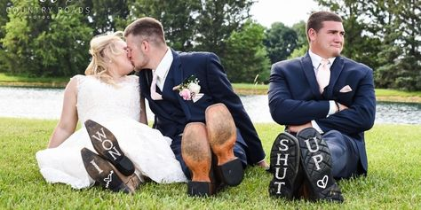 Couple Goes Viral for Hilarious Wedding Photos of Their Third-Wheeling Best Man