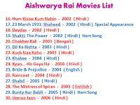 Aishwarya Rai Movies List 16 To 30 Aishwarya Rai Movies Movie List Movies