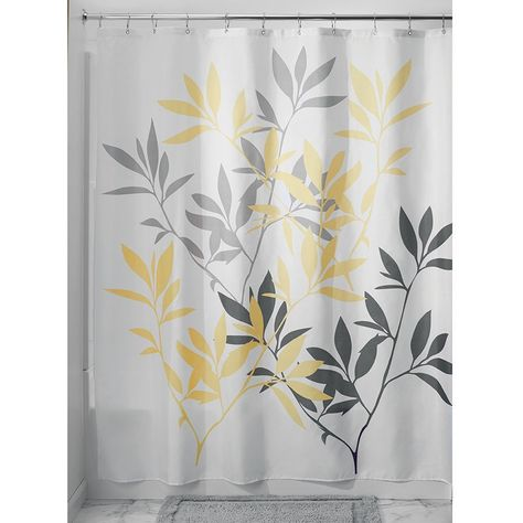 Gray and Yellow Shower Curtain, Fabric Shower Curtain, Luxury Shower Curtain.  $44.95  Free Shipping