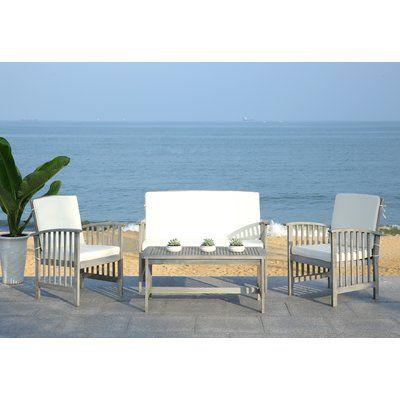 Lark Manor Alcazar 4 Piece Sofa Set With Cushions Frame Color