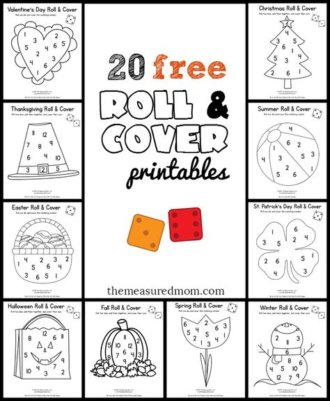 20 free roll and cover games | math workshop | Preescolar ...