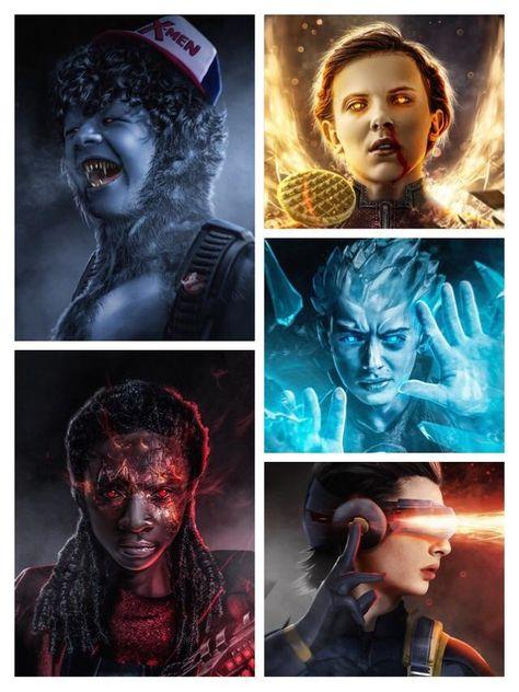 Stranger Things cast as the X-Men