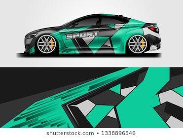 Car Sporty Wrap Decal Design Vector Graphic Background Kit Designs For Vehicle Race Car Rally Livery Eps 10 Vektorgrafik Grafik Bilder