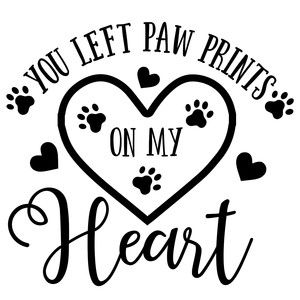 Dog The pawprints you left on our hearts Memorial Pet