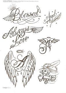 Leles Tattoo : 230 Desenhos Tatuagens de anjos