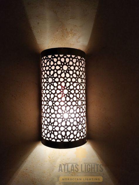 """Oriental Wall Lamp Moroccan Lamp Morocco Screen /"""" Tobga /"""""""