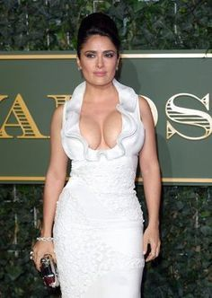 Pin for Later: Salma Hayek Showed Lots of Skin on the Red Carpet