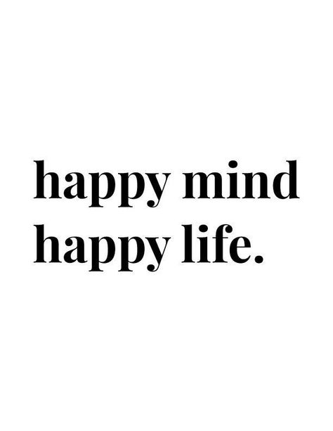 Happy Mind Happy Life | Positive quote wall art free printables