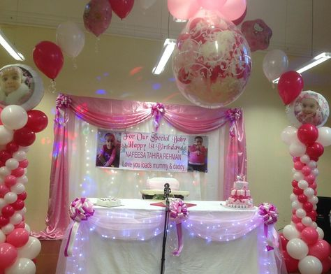 Girl First Birthday Stage Pixels