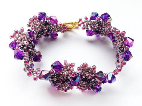 Parel / Kralen Armband - Paars, roze, violet - Handgemaakt - Juwelen Vrouwen - Kleurrijk