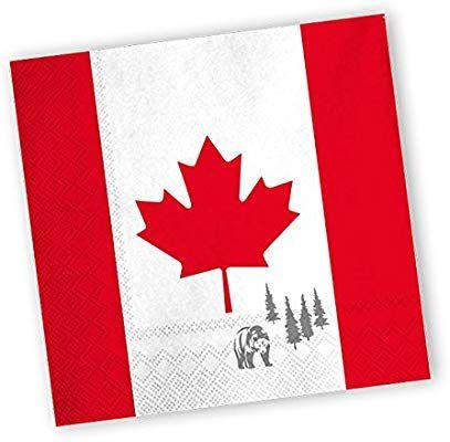 Servietten Kanada 20er Pack Amazon De Spielzeug Papierservietten Papier Und Geburtstag