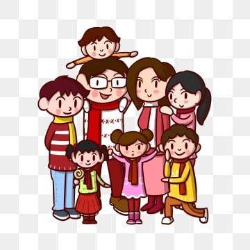 رسوم متحركة صورة العائلة عائلة فرح عائلة الآباء طفل Png وملف Psd للتحميل مجانا Family Cartoon Cartoon Character