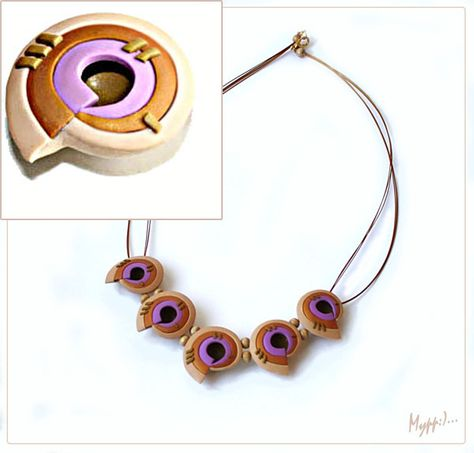 Tutorial for this unusual shaped bead. Needs Translation. #polymer clay #tutorial