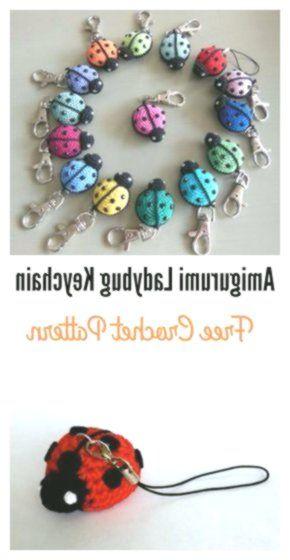 Free Amigurumi Ladybug Keychain Crochet Pattern | 560x290