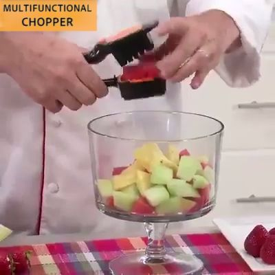 No longer will you have to chop and dice vegetables with all the mess and clean-up. Fruit and Vegetable Dicer Chopper takes the hard work out - simply insert the food, press it and everything is perfectly sliced in SECONDS.  The different blade inserts can be combined, cut thick slices, thin slices, cubes, and sixths! Simply insert the food, press it and everything is cut perfectly in seconds.