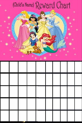 Disney Princess Potty Training Chart homemade potty training chart