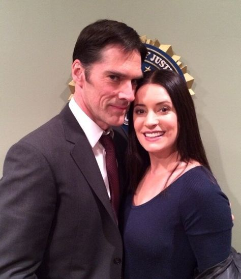 Paget Brewster and Thomas Gibson Thomas Gibson, Ncis Los Angeles, Look Whos Back, Behavioral Analysis Unit, Paget Brewster, Criminal Minds Cast, Penelope Garcia, Perfect Together, Matthew Gray Gubler