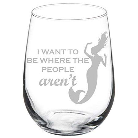 Wine Glass Goblet Elephant in Love 17 oz Stemless