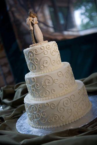 Simple White Wedding Cake Designs 53