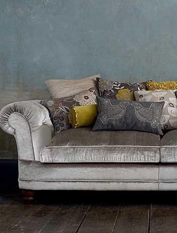 Olohuone | Pinterest | Silver Sofa, Velvet Couch And Gray