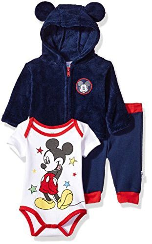 Disney Boys Mickey Mouse 3 Piece Set Vest Shirt /& Pants