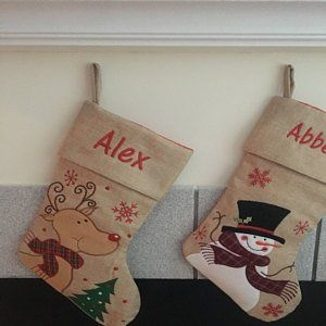 Grey Christmas Stockings Personalised.Pinterest Pinterest