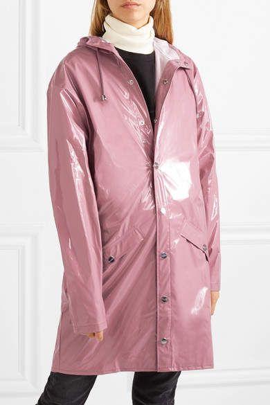 Rains Hooded Glossed Pu Raincoat Pink Glossed Hooded Rains Raincoat Acne Studios Jeans Stella Mccartney Sneakers