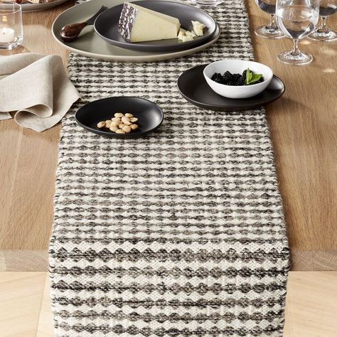 Canton Wool 120 Table Runner Crate And Barrel Crate