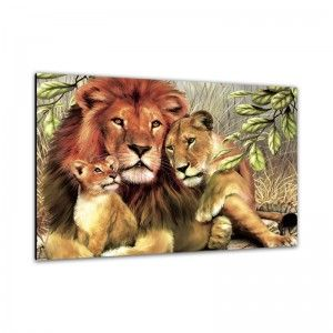 C2153 تابلوه مودرن تابلوهات مودرن تابلوهات براويز مودرن صور براويز تابلوهات خشب تابلوهات مودرن 2018 لوحات مودرن Diamond Painting Lion Family Painting