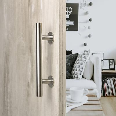 12 Round Barn Door Pull With Flush Plate Latch Stainless Steel Door Handles Barn Door Handles Barn Door Handles Hardware