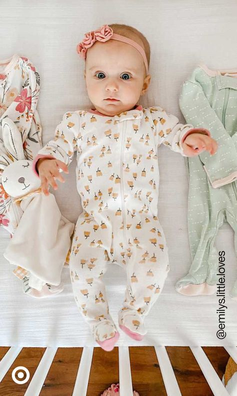 Dress baby in cute baby girl clothes  fashion outfits that are perfect for photo shoots or meeting grandparents for the first time.