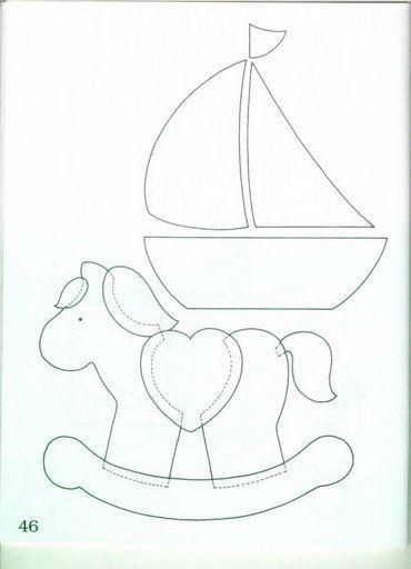 rocking horse and sailboat