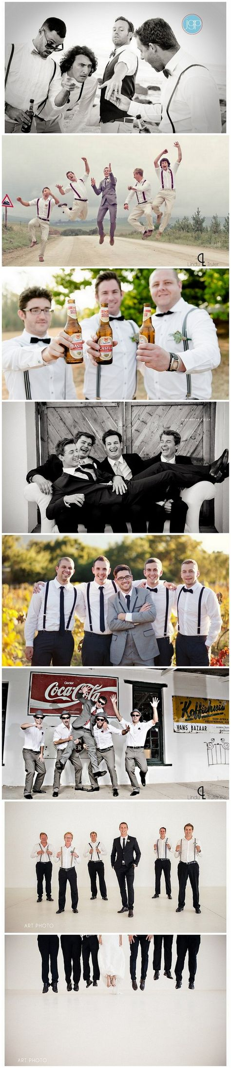 Groomsmen Wedding Photo Ideas and Poses http://www.confettidaydreams.com/wedding-photo-ideas-and-poses-for-your-wedding-party/