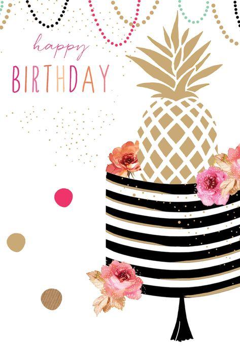 Birthday Card Pineapple Sara Miller