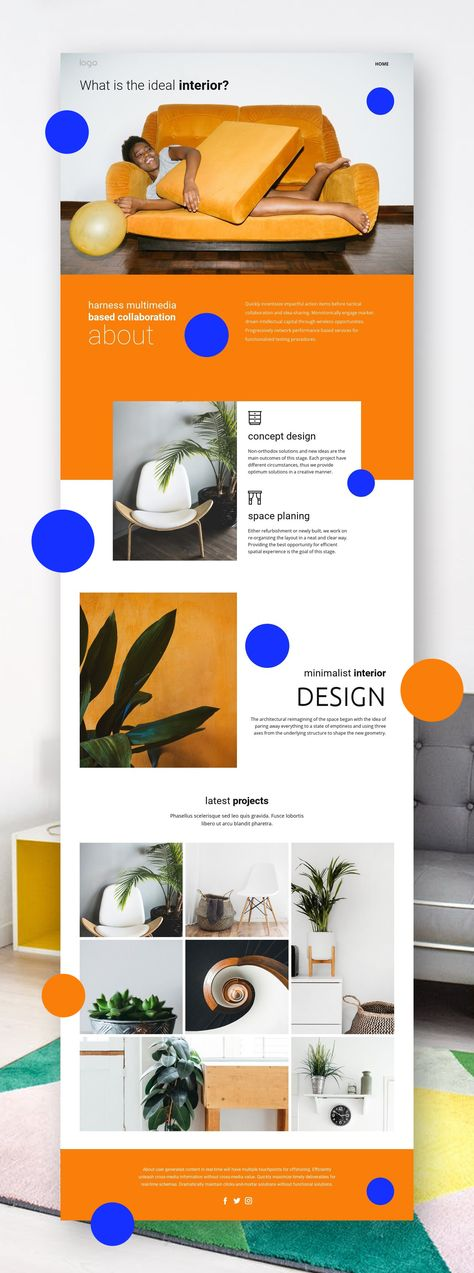Free HTML Template by Nicepage Builder