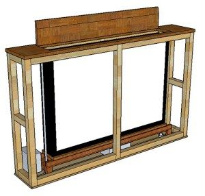 custom made tv lift hidden lcd console projects pinterest popup consoles and tvs