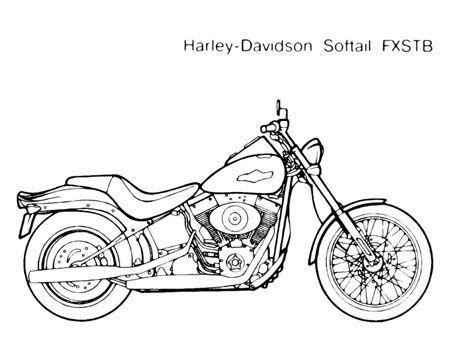 Disegno Da Colorare Mezzi Di Trasporto Moto Harley Softail Disegni Da Colorare Immagini Disegni