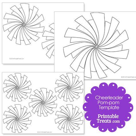 Printable Cheerleader Pom Pom Template From Printabletreats