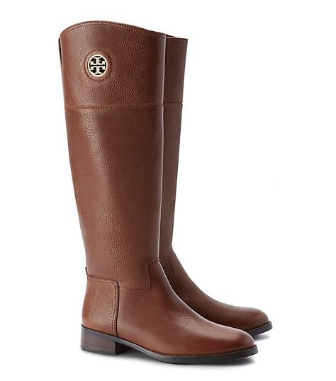 b84cd29cb22e23 Tory Burch Junction Riding Boot — charmingly gamine paired with a flirty  mini