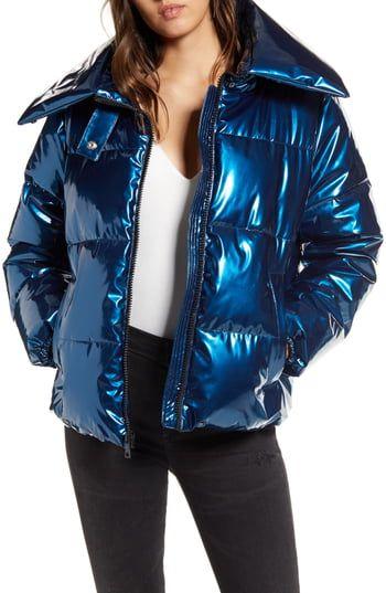 Kendall Kylie Womens Puffer Coat