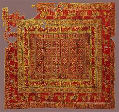 They The Armenians Weave The Choicest And Most Beautiful Carpets In The World Marco Polo The Travels Pazyryk Carpet Alfombras Losas Macizas Y Museos