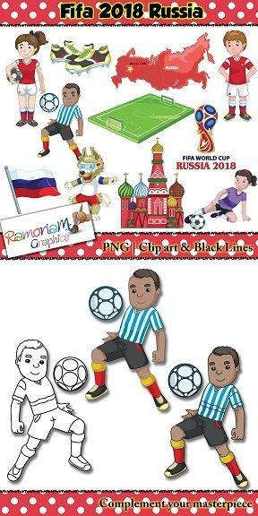 Soccer Fifa World Cup 2018 Clip Art Soccer Fifa Football Clip Art Football Clips