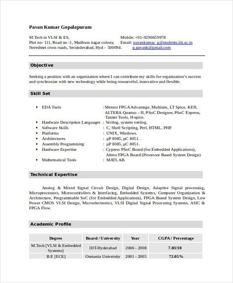 Iti Resume Format Pdf Download Best Resume Examples