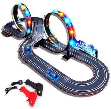 Starrybay 1 43 Scale Electric Rc Slot Car Racing Track Sets Dual Speed Mode Slot Car Racing Slot Racing Slot Car Sets