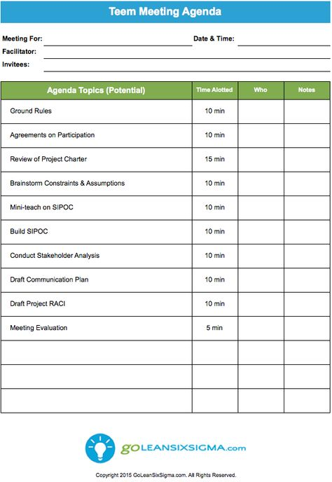 Team Meeting Agenda Template Official Templates Pinterest - mortgage amortization excel