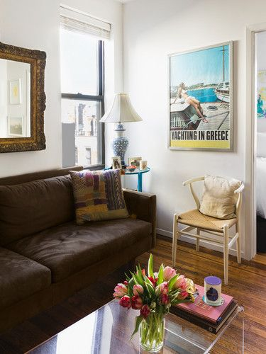 West Village Apartment Decorated With Craigslist Items Tiny Living Rooms Living Room Designs