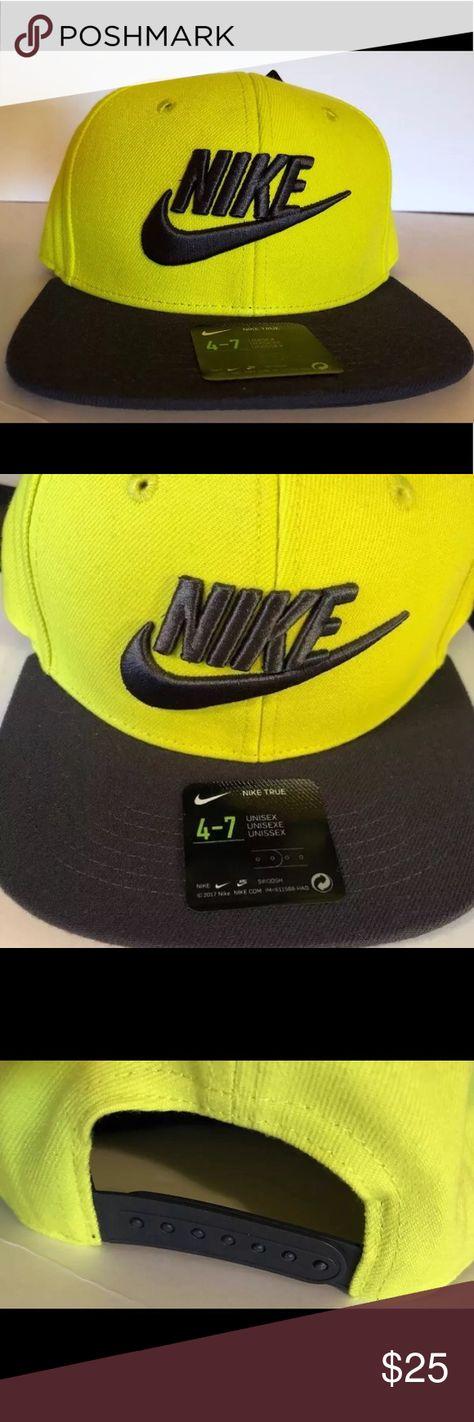 Nike True Youth Cap Sz 4 7 Kids Hat Volt Yel Gry Kids Hats Nike Accessories Kids Accessories