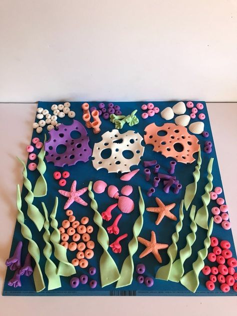 Under Sea Cake Decoration Kit  Kit INCLUDES Everything as Pictured <><>   Seaweeds are between 3 and 4 tall Mermaid Tail is about 3.25
