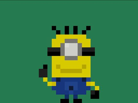 Famous Characters In Pixel Art Minions Carl From