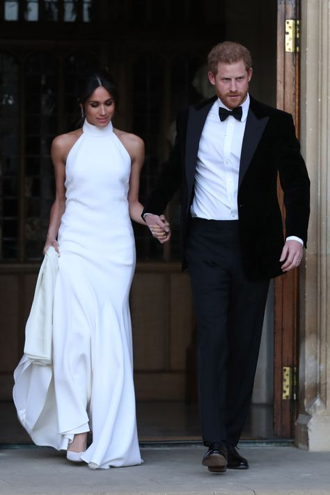 meghan markle's second wedding dress was definitely inspired